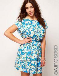 Платье с цветочным принтом Asos Curve 24-26 UK