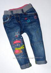 Продам красивые джинсы на девочку 9-12