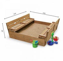 Деревянная песочница Sportbaby Песочница 3