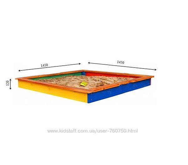 Деревянная песочница Sportbaby 7