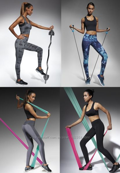 Спортивные женские лосины для фитнеса Bas Bleu, легинсы для спорта