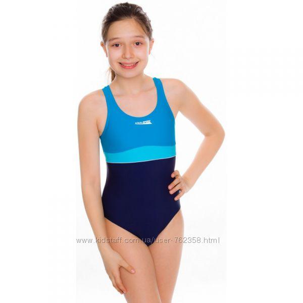 Купальник детский закрытый для девочки спортивный Польша для бассейна