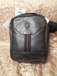 Спортивная сумка Puma Ferrari, черная и красная