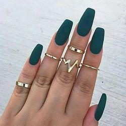 Набор колец на пальцы и фаланги 5 шт, фаланговые кольца золото