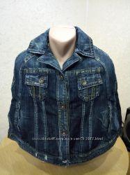Куртка джинсовая женская MANGO. Пончо. Новая