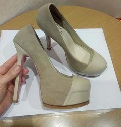 Туфли натуральная кожа размер 37 бу