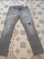 Брендовые джинсы-рванки скинни. Италия. Jack&Jones