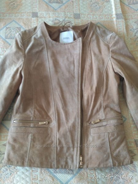 Замшевая курточка, косуха , Mango