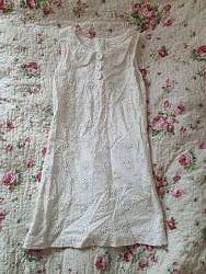 Платье белое 9-11 лет, рост 150 см