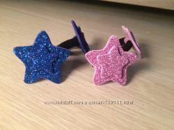 Резинки для девочек, заколки звезды из блестящего фоамирана