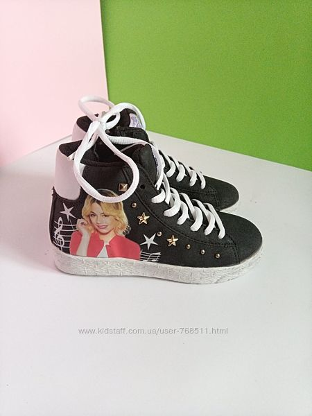 Кросівки хайтопи снікерси для дівчинки Disney 28 розмір