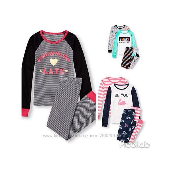 Пижама для девочки коттон Children place яркая от 4 до 8 лет