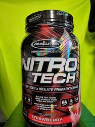 Протеин Muscletech Nitro-Tech 998грамм клубника