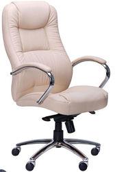 Кресло Мустанг  MB Хром Неаполь N-17, вставка Неаполь N-17 перфорированный