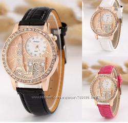 Женские часы Эйфелева башня стразы