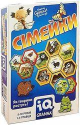 Granna настольная игра IQ Семейки 81503 и Четыре времени года 82036