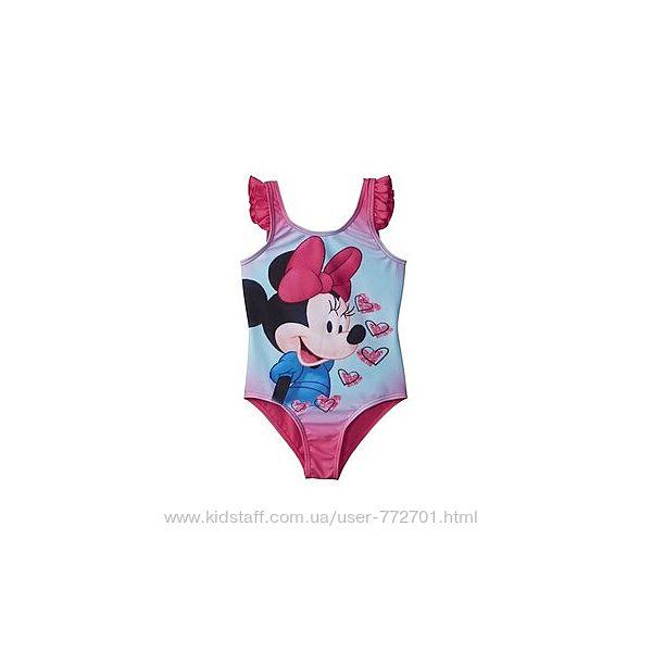 Красивый сдельный купальник Minnie Mouse Disney. 110-116, 122-128
