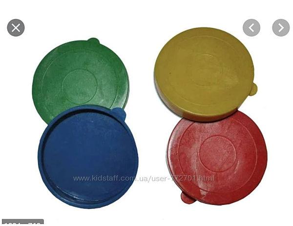 100 шт. упаковка. Крышка на майонезную банку пластмассовая-цветная.
