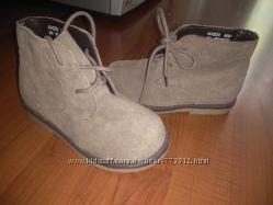 Замшевые  ботиночки F&F р-р 23 состояние новых