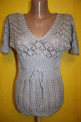 Джемпер свитер кофта летучая мышь красивая нарядная XS 40-42р