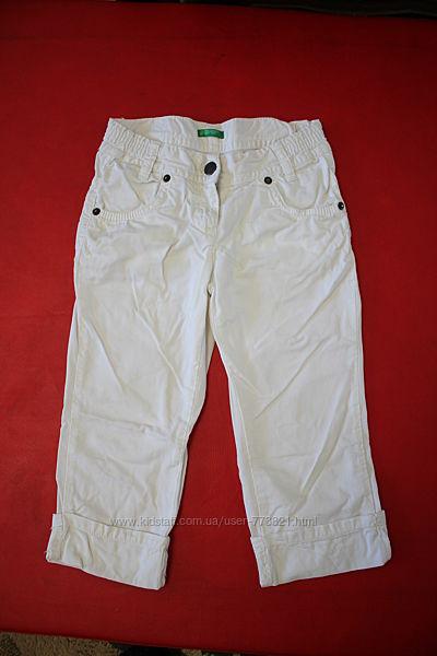 Бриджи капри шорты белые коттон 5-7лет рост 116-128см