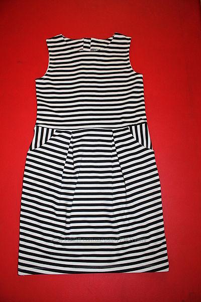 Платье стильное 8-11лет трикотаж отличное состояние H&M