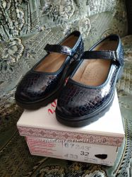 Туфли школьные 32 размер, 21 см стелька