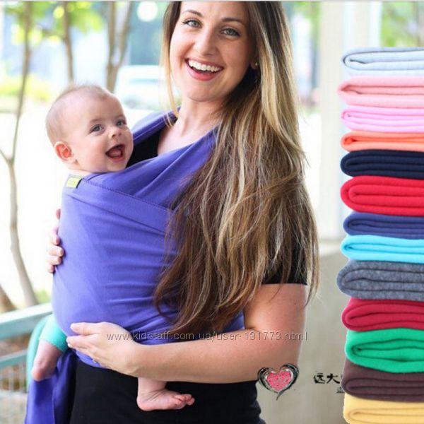 слинг-шарф Moby Wrap для деток от рождения