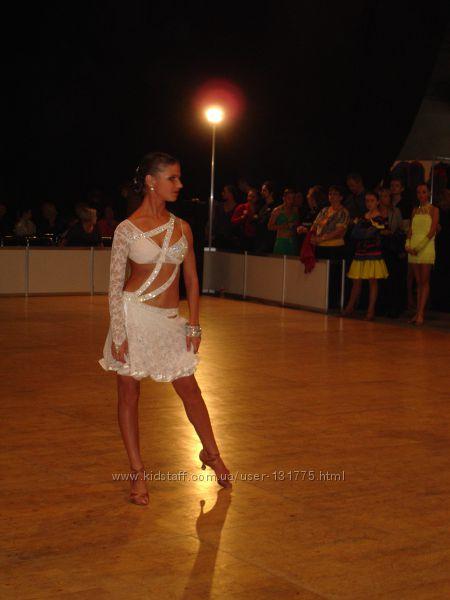 Платье латина белое Юниоры 1-2