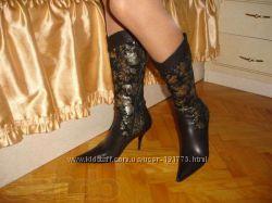 Осенние сапожки на ножки 36-36. 5 размер