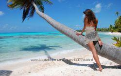 Пляжное белое ажурное кружевное платье туника