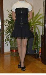 Сарафан черный школьный стильный модный р. 42-44