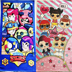 Полотенца с любимыми героями Взрослые и детские.