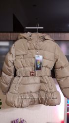 Зимнее пальто для девочки Nature, р. 116122 см