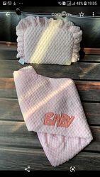Комплекты в коляску- одеяло и подушка