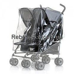 Дождевик для коляски для двойни