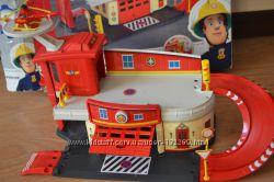 Наш Пожарный гараж с вертолетом, Пожарный Сэм, Dickie