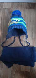 Зимняя шапка с шарфиком