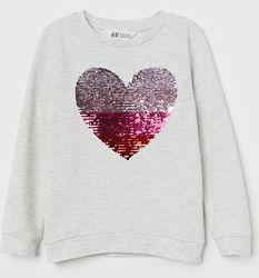 Яркие свитшоты H&M с реверсными пайетками