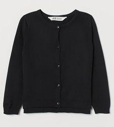 Чёрный кардиган H&M для девочки школа