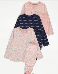 Замечательные пижамки GEORGE для девочек 7-10л