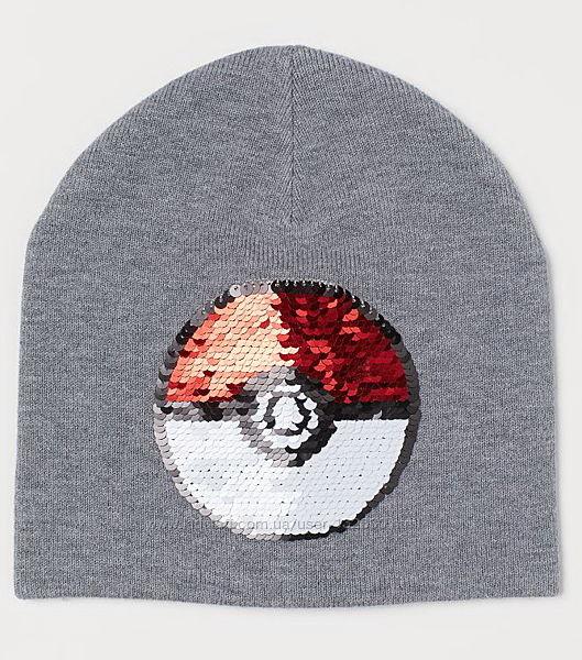 Стильная демисезонная шапка H&M реверсные пайетки