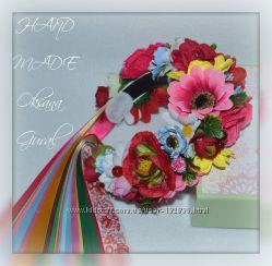 Красивые веночки, ободки, заколки с искусственных цветов