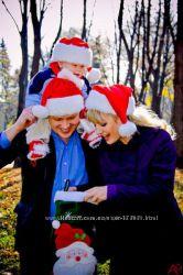 Новогодняя шапка санты красная для Взрослых