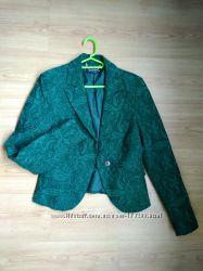Жаккардовый изумрудный пиджак l-m Rinascimento