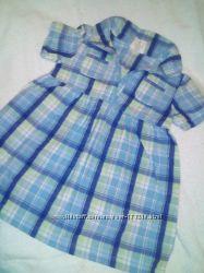 Клетчатое платье-поло Crazy8