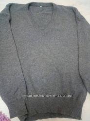 Теплый темно-серый джемпер XL