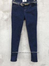 Шикарные тёмно синие джинсы XS