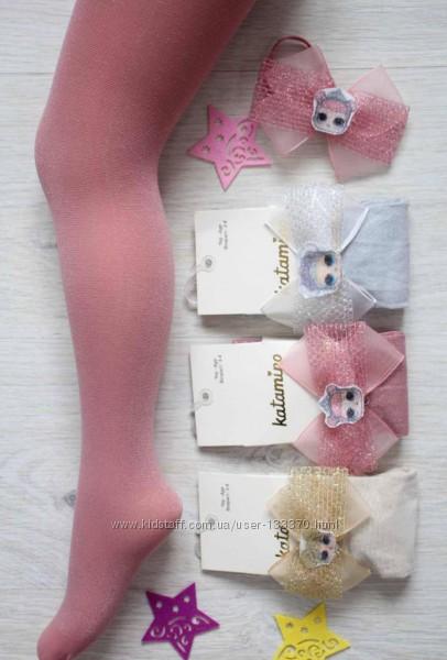 Колготки 50den с куколками LOL для девочки 9-10 лет