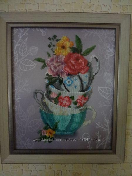 Картина бисером на кухню